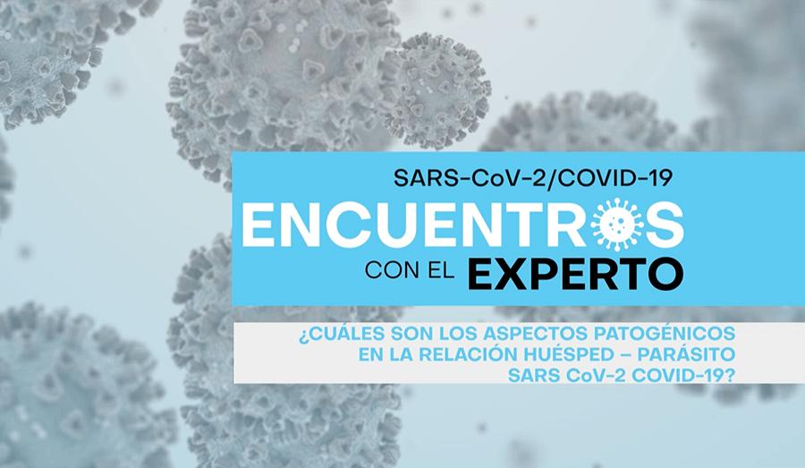 ¿Cuáles son los aspectos patogénicos en la relación huésped-parásito SARS COV-2?